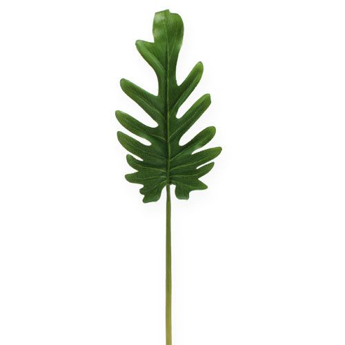 Dekorative blader Philodendron grønn W11cm L34cm 6stk