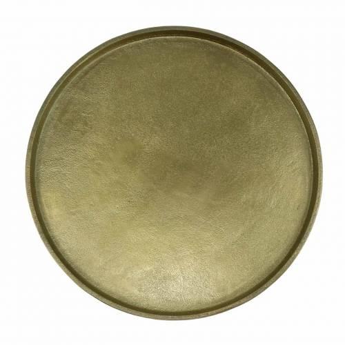 Dekorativ plate leire Ø20cm gull
