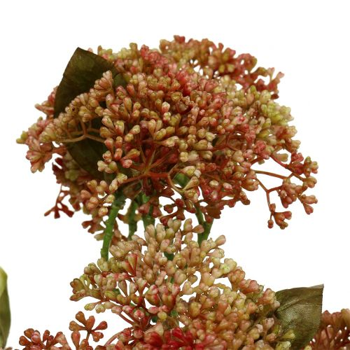 Dekorativ gren sedum Bordeaux, gul 58cm