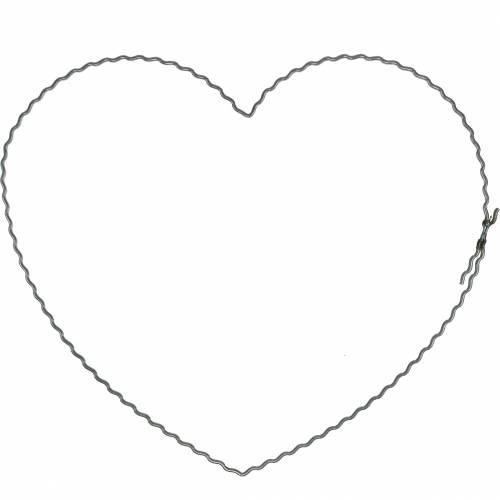 Trådhjerter 20cm bølgeringer kransbøyler hjerte 10stk
