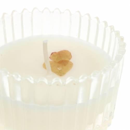 """Duftlys """"Festlig frukt og vanilje"""" Ø6,5cm H9cm"""