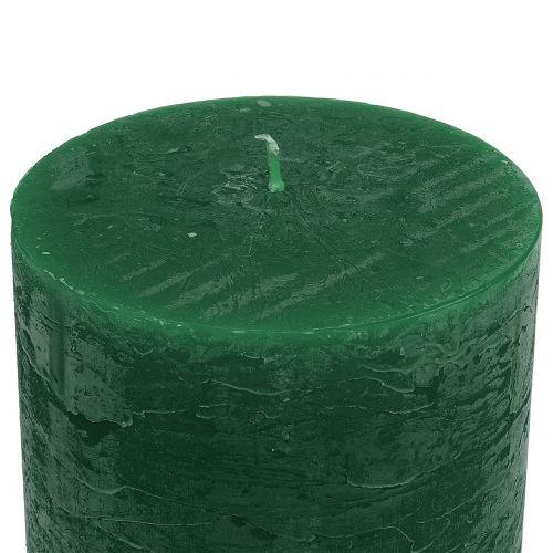 Ensfargede lys mørkegrønne 50x100mm 4stk