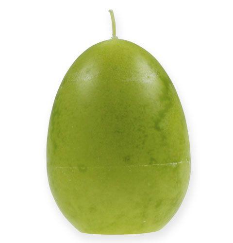 Dekorativt eggelys lime 14cm