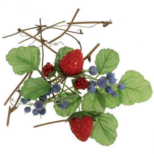 Håndverk satt bær, dekorative grener og blader