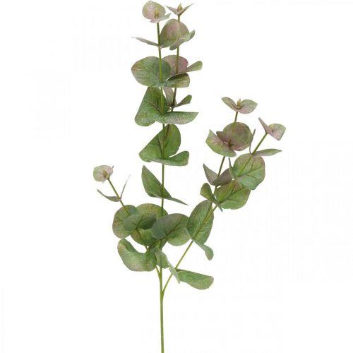 Kunstig eukalyptus gren deco grønn plante grønn, rosa 75cm