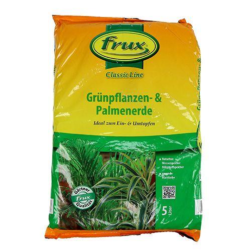 FRUX grønn plante og palmejord 5l