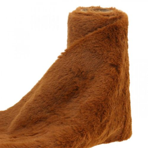 Pelsbånd brun faux pels dekorasjon bordbånd 15 × 150cm