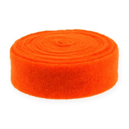 Filtbånd oransje 7,5 cm 5m