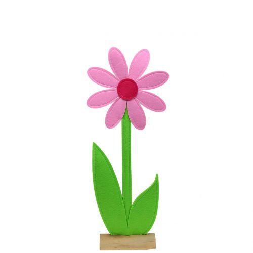 Følte blomsterrosa 64cm
