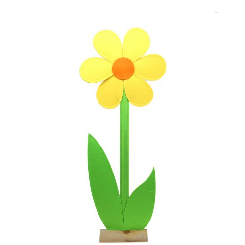 Filt blomst gul 87cm