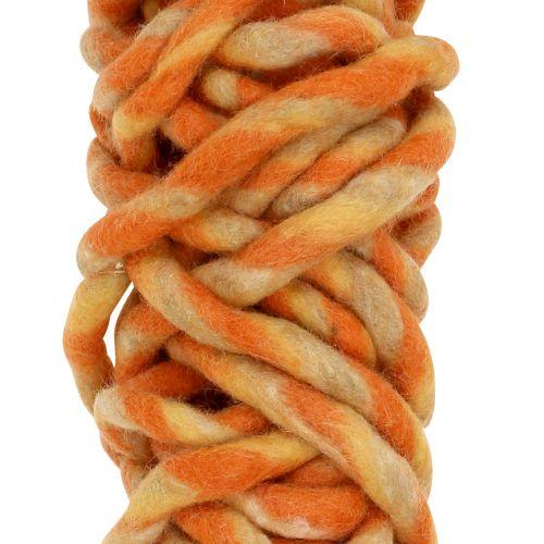 Filtsnor 25m oransje, gul, brun