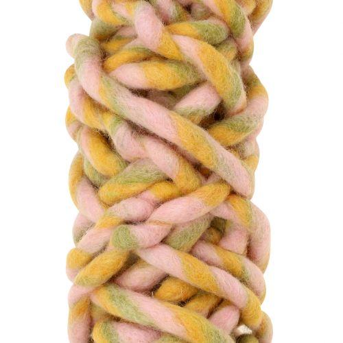 Filtsnor 25m rosa, gul, grønn