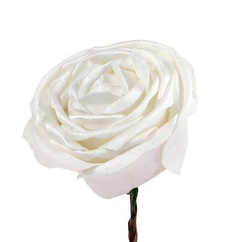 Skumrosa hvit med perlemor Ø10cm 6stk