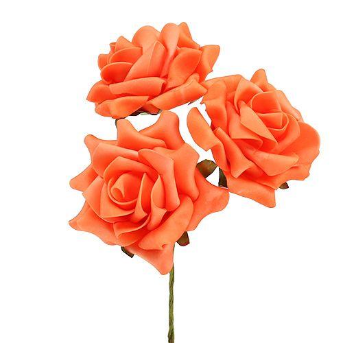 Foam Rose Ø 10cm Oransje 8stk