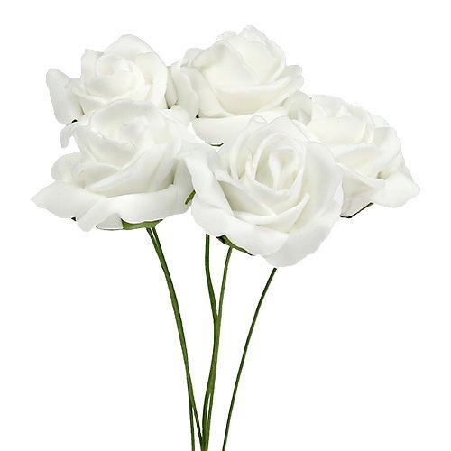 Foam Rose Ø4,5cm hvit 36stk