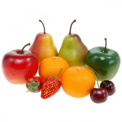 Dekorative frukter, kunstig fruktblanding L5–8,5cm
