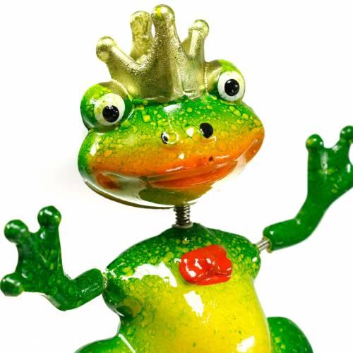Hageplugg froskeprins med metall vårgrønn, gul, gylden H68.5cm