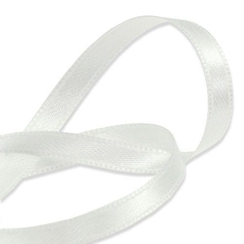 Gave- og dekorasjonsbånd hvit 6mm 50m