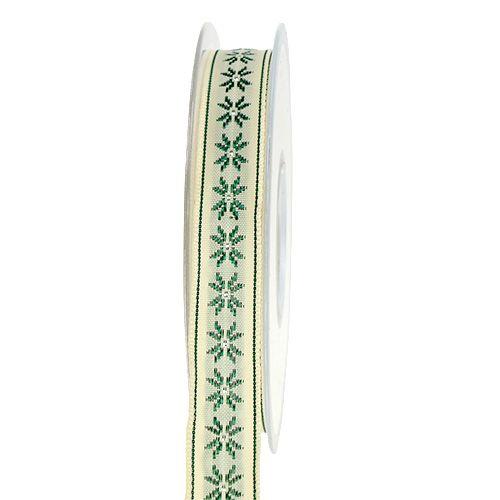 Gavebånd med mønsterkrem 15mm 20m