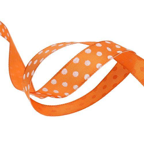 Gavebånd med prikker oransje 15mm 20m