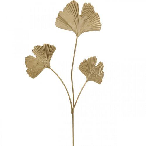 Ginkgo gren metall dekorativ plugg Ginkgo Golden 14 × 28cm 6stk
