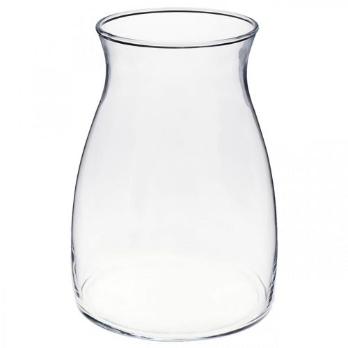 Dekorativ glassvase klar blomstervase glass Ø11cm H20cm