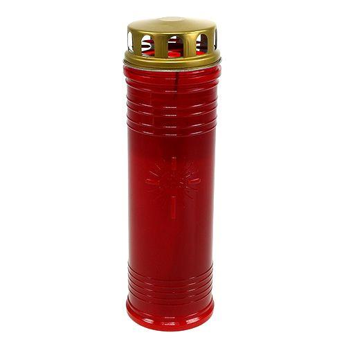 Gravlys rød Ø7,5cm H24,5cm 1p