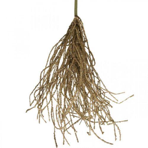 Gressbuskebrun kunstig tørr dekorasjon høstdekorasjon 48cm
