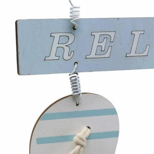 Flip-flops for å henge tre lysblå 23 × 14cm 6stk