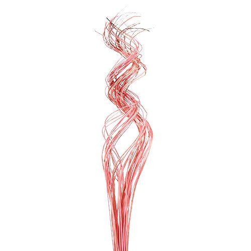 Half Curly Willow 100cm rosa 30stk