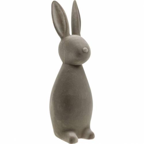 Bunny mørkegrå strømmet påskeharen påske dekorasjon borddekorasjon påske
