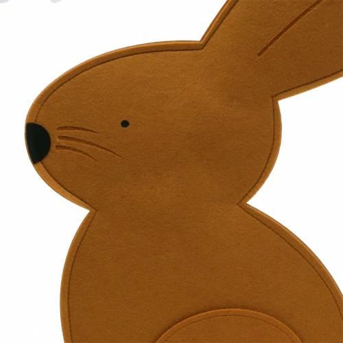 Dekorativ kanin sittende filt lysebrun 40cm x 7cm H61cm påskedekorasjon, butikkvindu