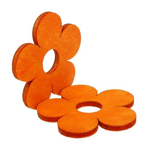 Treblomst til å drysse oransje 4cm 72p