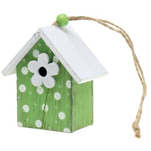 Dekorativt fuglehus å henge 8cm 6stk
