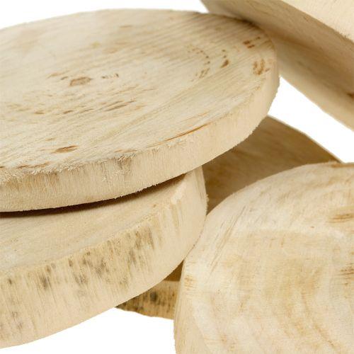Treskiver naturlig Ø11cm - 13cm 5stk
