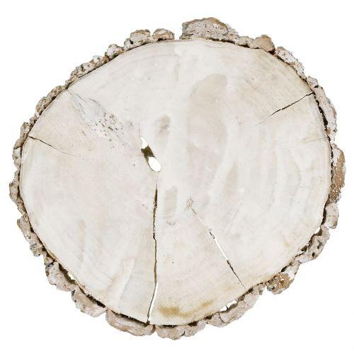Treskive vasket hvit 13cm - 15cm 2stk