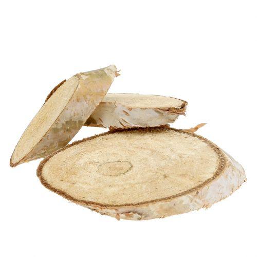 Treskiver bjørk oval 5cm - 20cm 500g