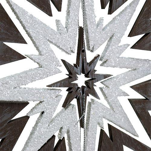 Trestjerne for å henge grå, hvit 48cm x 40cm