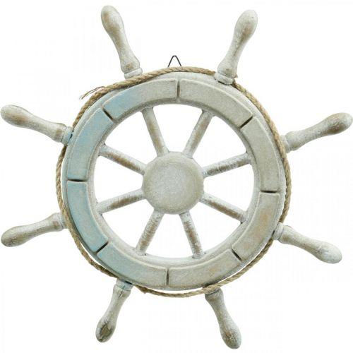 Ratt av tre, nautisk dekorasjon, maritim Ø34,5cm