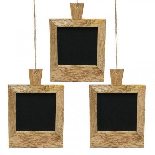 Mini deco bord for å henge opp naturen 9 × 13cm 3 stk