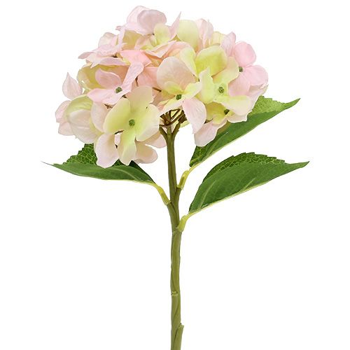Kunstig hortensia lysrosa 36cm