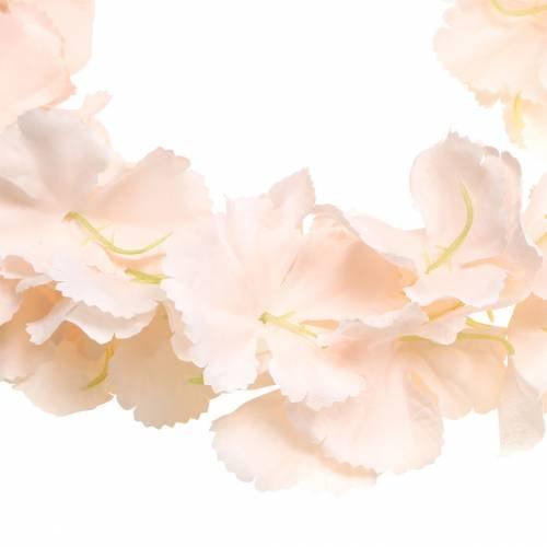 Dekorativ blomsterkrans kunstig aprikos 135cm 5 tråder