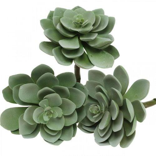 Kunstig saftig plante dekorasjon kunstige planter grønne 11 × 8,5cm 3 stk