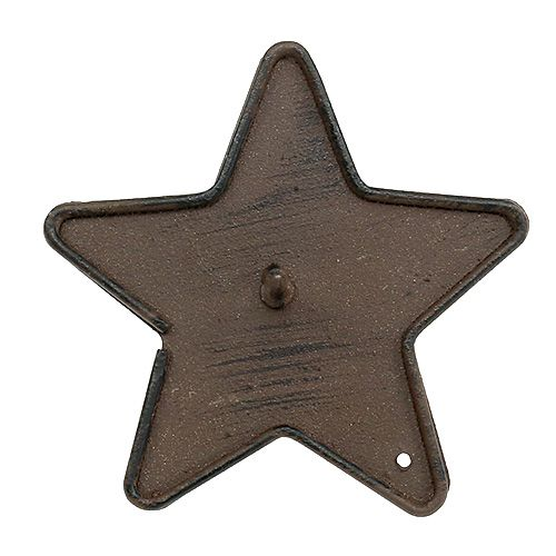 Lysestake stjerne for å feste 9 cm brun