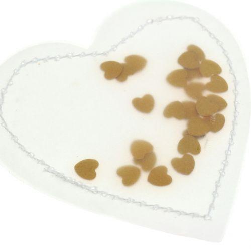 Konfetti hjerte gull 5cm 24stk