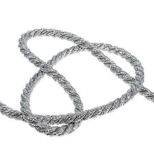 Ledning sølv 10mm 10m