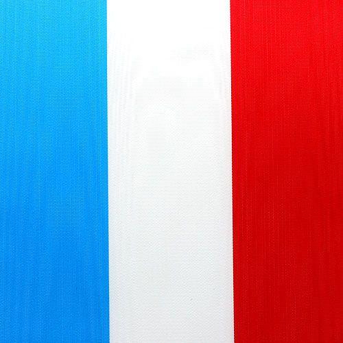 Kransebånd moiré blå-hvit-rød