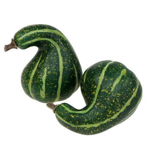 Kunstig Ornamental Gresskar Mørkegrønn 11cm 6stk