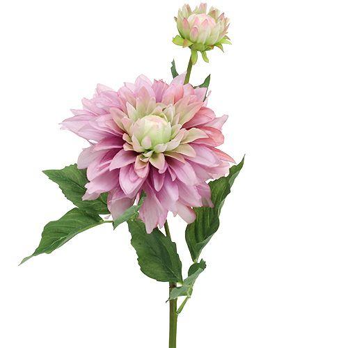 Kunstig blomst dahlia lilla 63cm