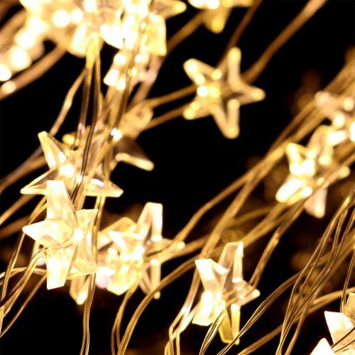 LED-lyspakke stjerne for utsiden 320 1m sølv / varmhvit